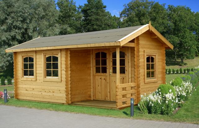 Valkea oregon 44mm log cabin outdoor heaven - Garden sheds oregon ...