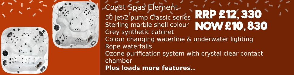 Save on the Coast Spas Element Hot Tub