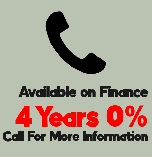 4 Years 0% finance available